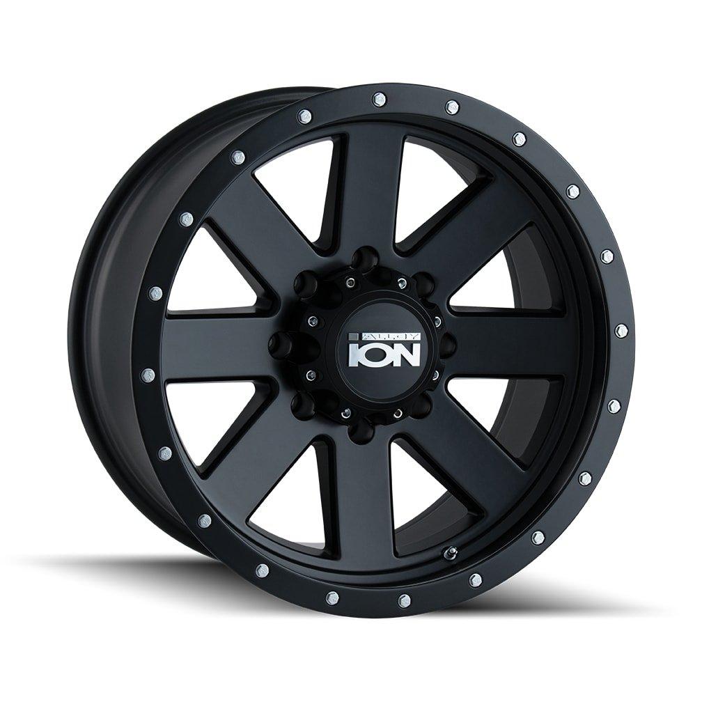 Ion 134 Matte Black/Black Beadlock Wheel with Painted finish Finish (20x10''/8x170mm)