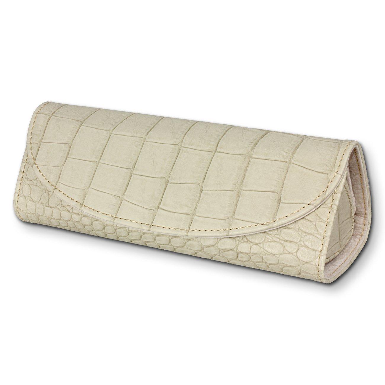 SilberDream boîte à bijoux pour voyager de couleur blanc - Étui de bijoux triangulaire - LB173W Fit4Style
