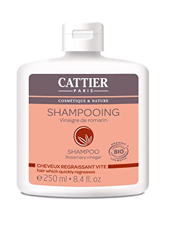 Cattier Shampoo Für Schnell Fettendes Haar Rosmarin Essig 250 Ml