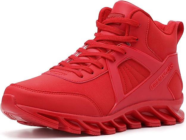 Bronax Sneakers Herren Männer Hightops Rot