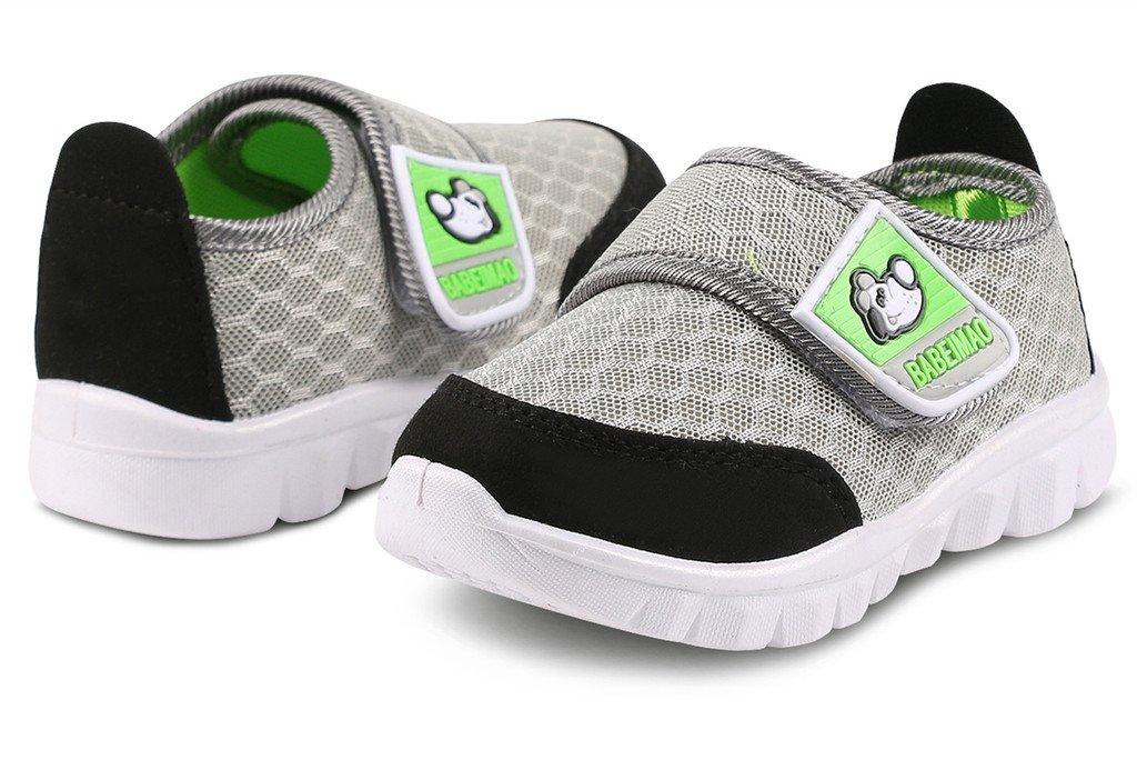 DADAWEN Baby's Boy's Girl's Mesh Light Weight Sneakers Running Shoe Gray US Size 4 M Toddler by DADAWEN (Image #5)