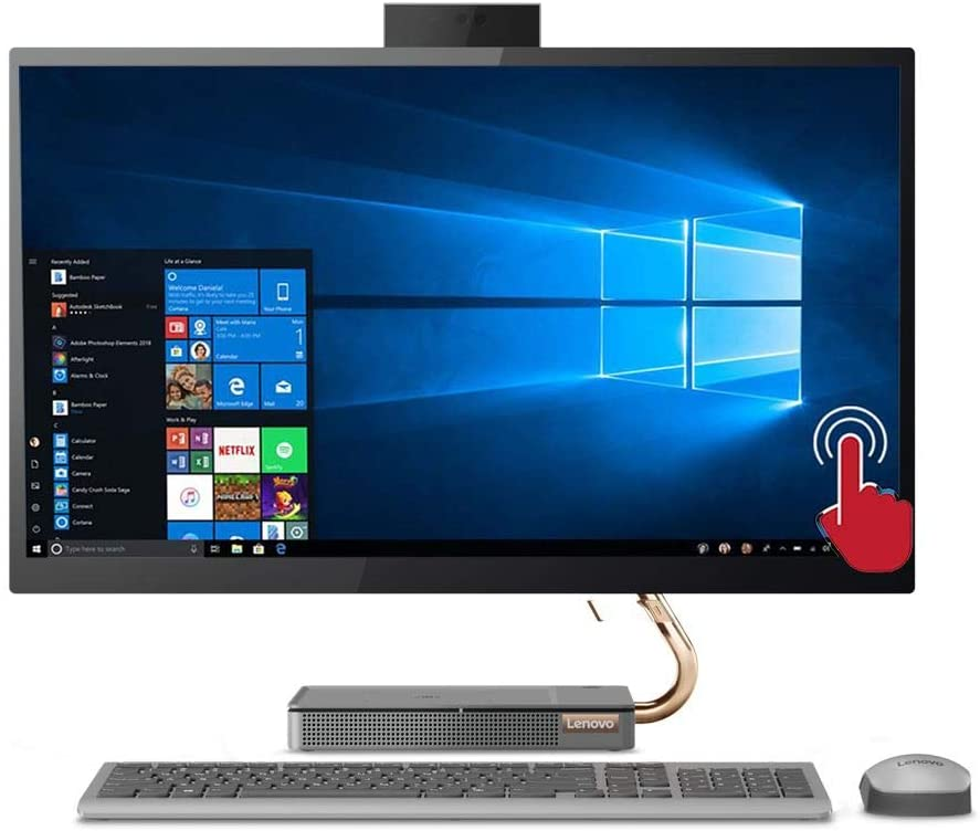 """Lenovo IdeaCentre AIO 27"""" Touch 512GB SSD (Intel Core i7-9700K CPU Turbo Boost to 4.90GHz, 16 GB RAM, 512 GB SSD, 27"""" QHD Touchscreen, Win 10) Desktop All in One PC Computer A540-27ICB"""