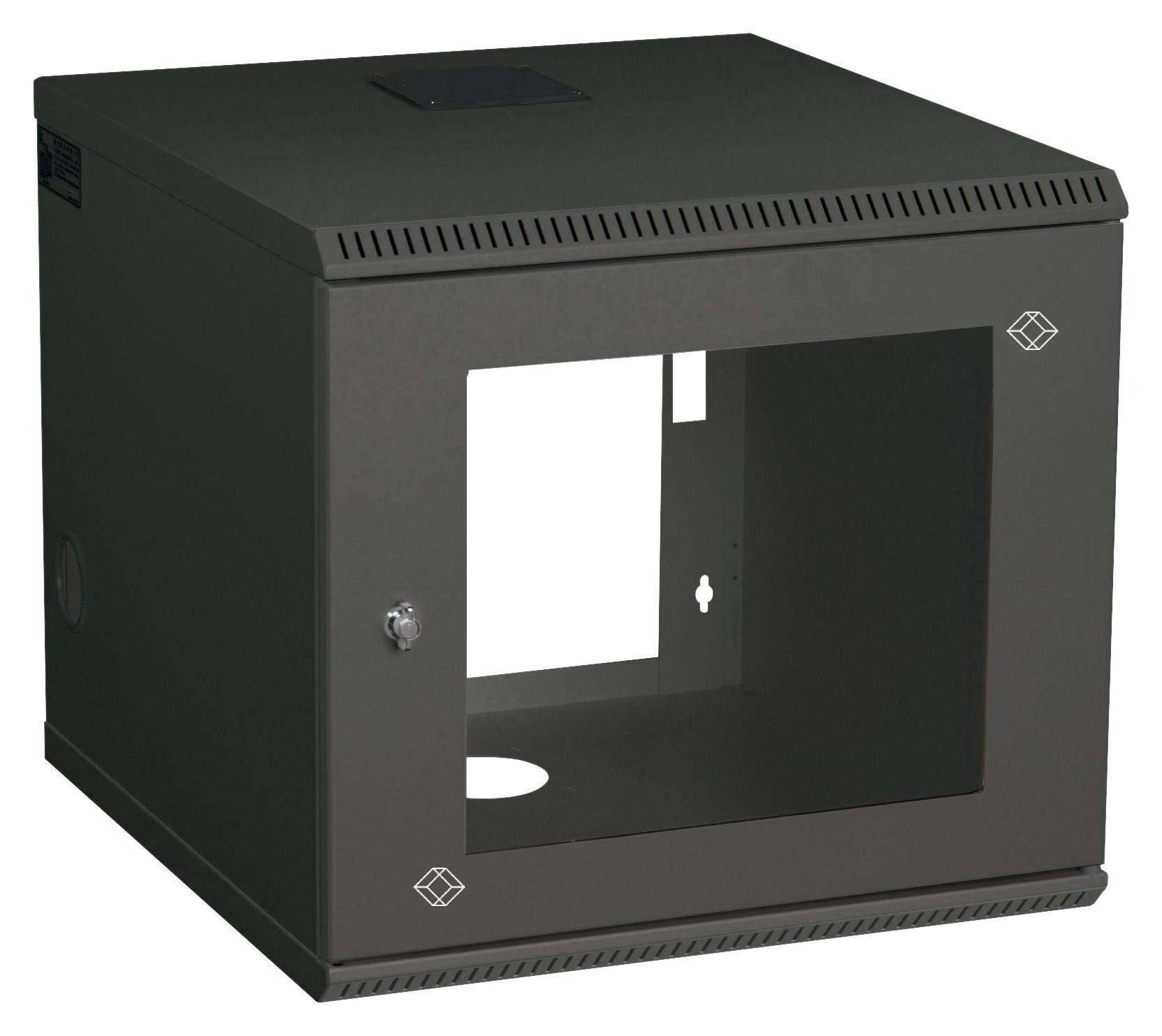 RM2411A - 19 Wall Cabinet, 6U, Steel, Black, 330 mm, 559 mm, 599 mm
