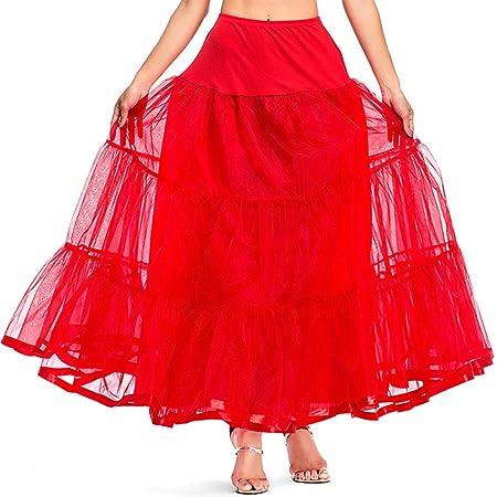 Chiic Falda de Tul para Mujer, Falda Rockabilly para Vestido ...