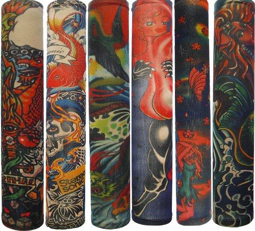 Efivs arts temporary fake tattoo arm sleeves slip on for Tattoo sleeves amazon