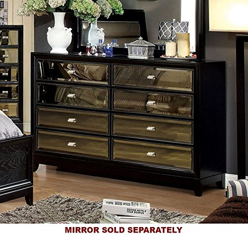 247SHOPATHOME Idf-7295D, dresser, - Mirror Gold Tinted
