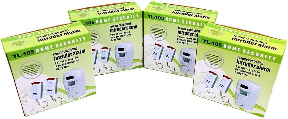 WER Alarme sans fil /à capteur infrarouge passif garage maison /À deux t/él/écommandes Remise