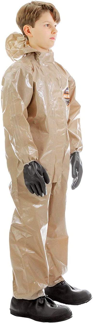 XS 50 MIRA Safety Hazmat Suit Disposable Protective Coverall with Respirator-Fit Hood and Elastic Cuff Size
