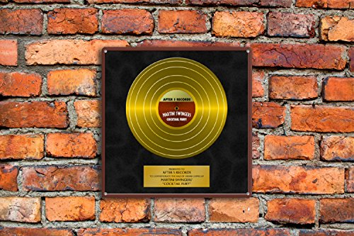 Personalized Gold Record Metal Sign Wall Art Decal Decoration Band Name Records Album Platinum Record Company Music Label Text -