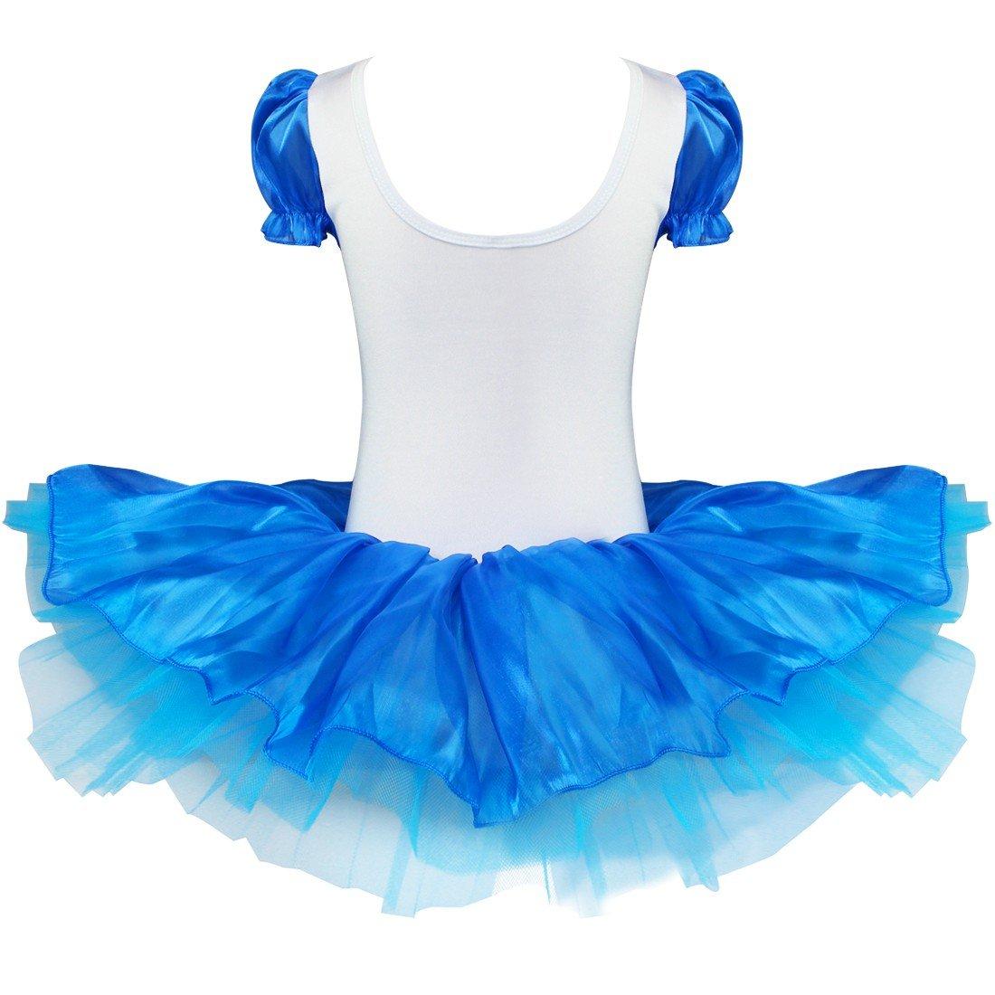 TiaoBug Girls Kids Gymnastics Dance Tutu Dress Ballet Leotard Skirt Dancewear Costume