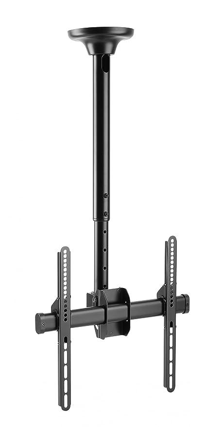 RICOO TV Halterung Decke Deckenhalterung D0244 Universal Curved LCD  Fernseher Halter Drehbar Schwenkbar 360 Grad Neigbar Höhenverstellbar  81-140cm 32\