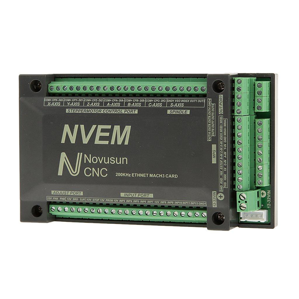 【ノーブランド品】6軸CNC200KHzのイーサネットMACH3カードPWMモーターモーションコントローラボード   B01FSBM472
