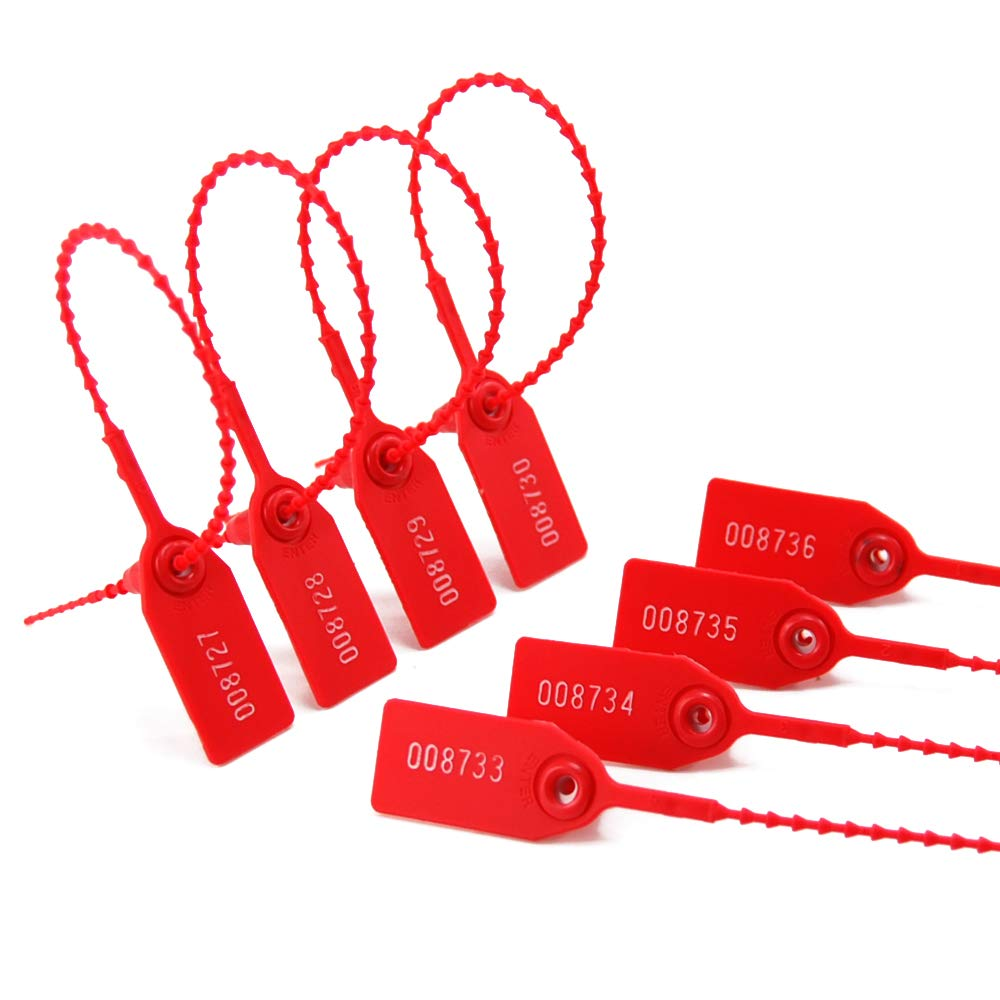 Label Tie 250mm Length 1000 PCS, White Zip Ties for Fire Extinguishers Pull Tite Security Tags Disposable Self-Locking Signage 1000 Numbered Plastic Tamper Seals