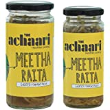 The Achaari Meetha Raita, 100% No Oil & No Preservative, Grated Homemade Mango Pickle, Combo Pack (400 Grams + 250 Grams)