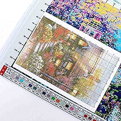 LovetheFamily Sunset Hippo 29/×29cm Cross Stitch Stamped Kits for Beginners 11CT 3 Strands DIY Handmade Needlework Set Cross Stitching Stamped Patterns Embroidery Frameless