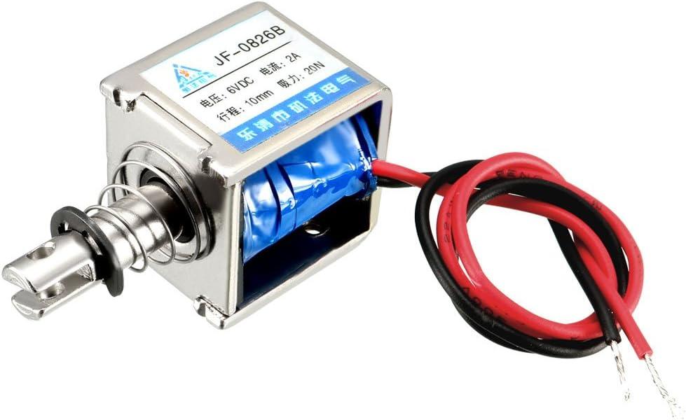 Push Type Linear Motion Open Frame Plunger Spring Solenoid Electromagnet