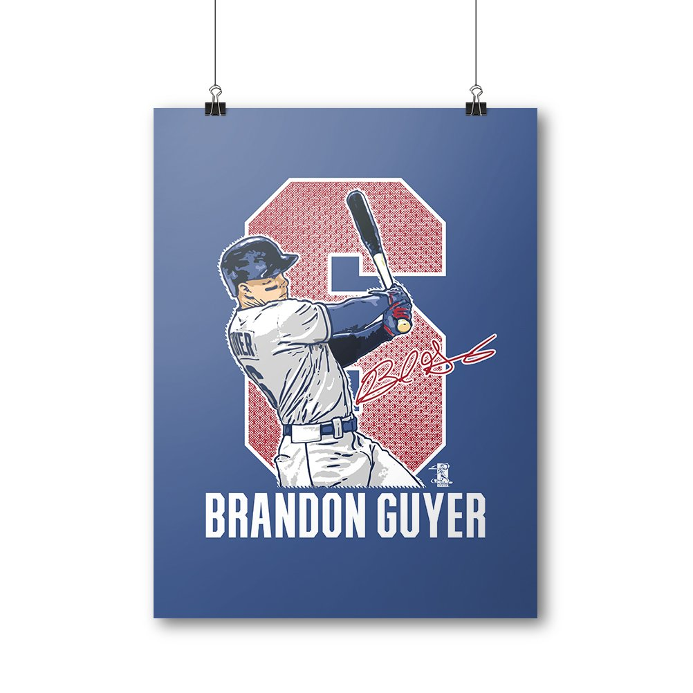 Amazon.com : 500 LEVEL Brandon Guyer Cool Wall Poster For Cleveland Baseball Fans - Brandon Guyer Game W : Sports & Outdoors