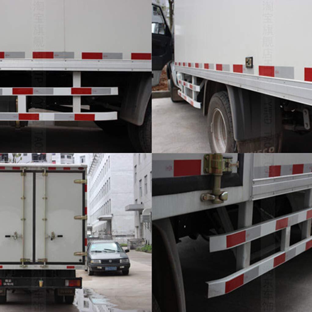Kakiyi Auto Notte autoadesive striscia riflettente Rosso-Bianco Truck Car Trailer di sicurezza Attenzione Adesivi nastro