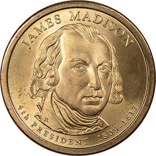 2007 James Madison Presidential Dollar Uncirculated Missing Edge Lettering ()