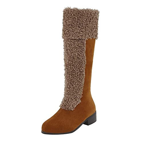 Logobeing Botins Botas de Mujer Zapatos de Invierno Botas de Nieve Cálidas y Peludas Tacones Botines
