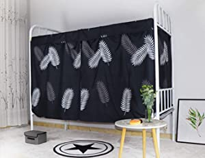 Students Dorm Bunk Bed Privacy Curtains Single Bed Shading Cloth Home Decor Blackout Panel Dustproof for College School