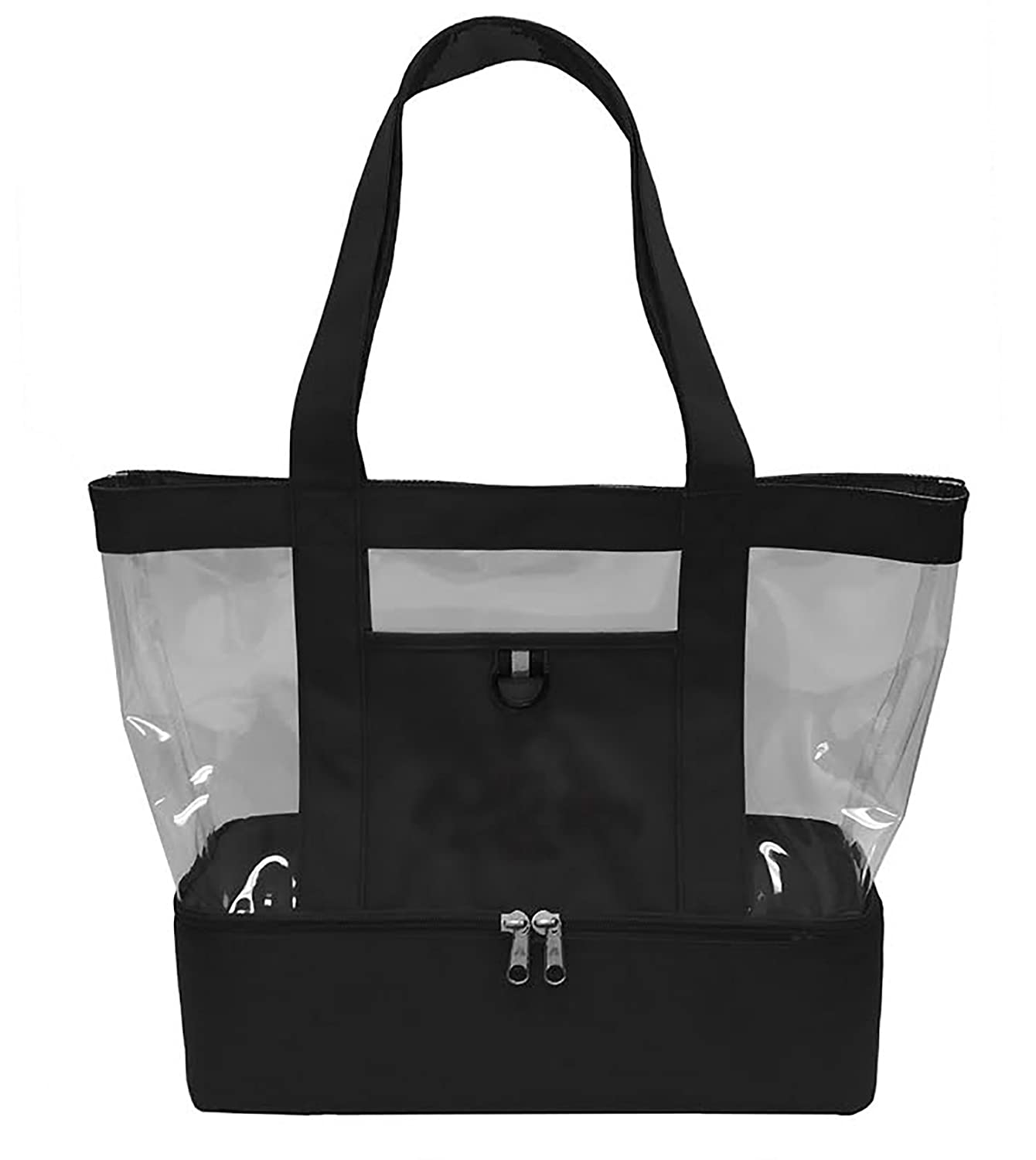 Gameday Stadium ClearビーチTote Bag with Cooler下部 B01H5U3LA8 Personalized|ブラック ブラック Personalized