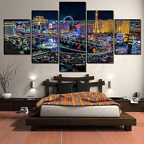 5ピース都市絵画キャンバス写真壁アートホーム装飾ポスター現代アートワーク40X60Cmx2 40X80Cmx2 40X100Cmx1なしフレーム