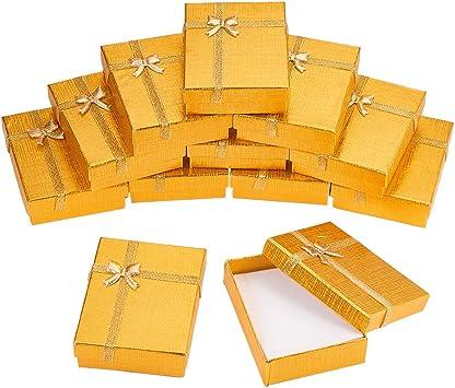 BENECREAT 12 Pack Caja de Regalo Caja de Presentacion de Joyas ...