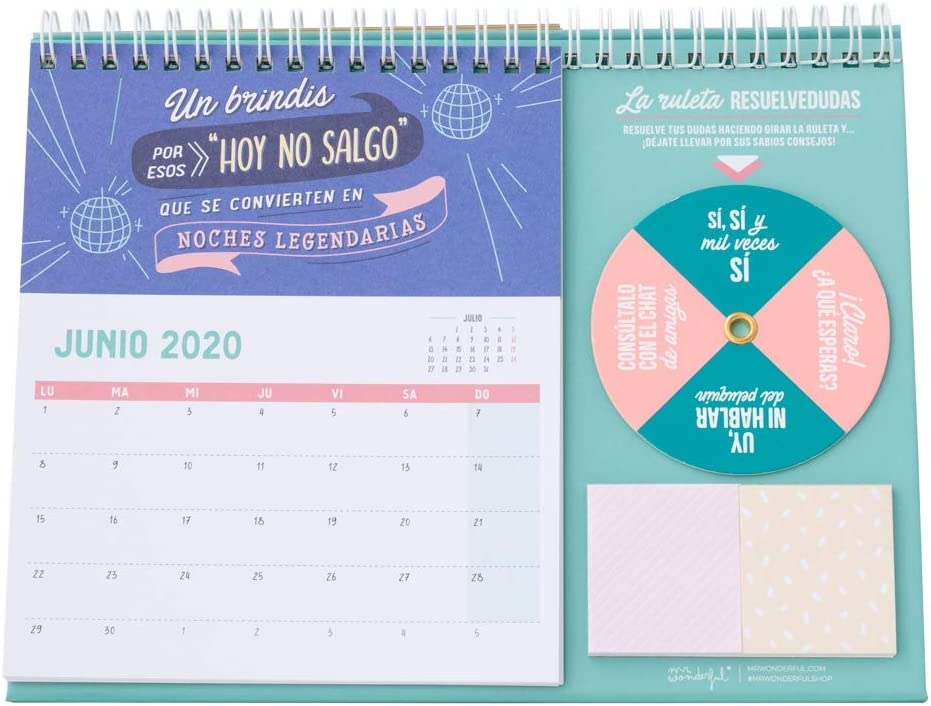 Mr. Wonderful WOA09851ES, Calendario de Sobremesa 2020, Talla ...