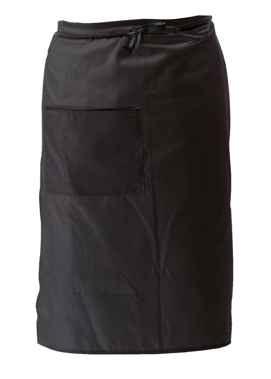 Crestware Bistro Apron 2 Pocket, Black