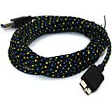 Braided 10FT Micro USB 3.0 Charger Sync Data Cable For Samsung Galaxy S5 i9600 Note 3 N9000 (Black)