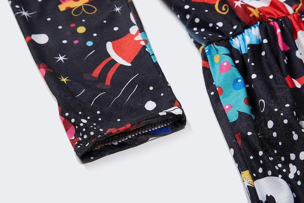 Weihnachten Mutter Tochter Rundhals Kleid,Efanhony Damen M/ädchen Langarm Weihnachtskleid Minikleid Weihnachtsmann Schneemann Gedruckt A-Linie Festkleid Mama Baby Passend Familie Kleidung Abendkleid