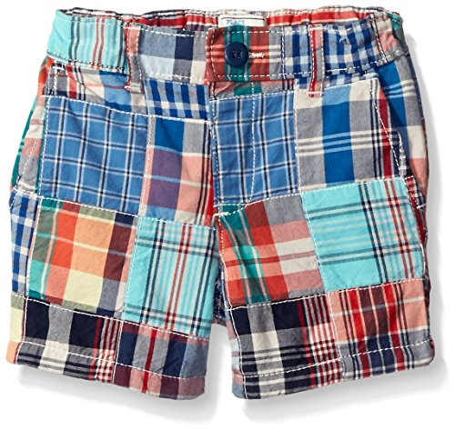 Patchwork Boys Shorts (The Children's Place Boys' Patchwork Shorts, Captain Navy, 18-24)