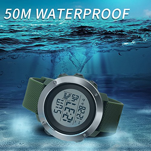 Fitness & Body Building Popular Brand Waterproof Digital Pedometer Alarm Clock Altimeter Countdown Timer Stop Watch Calories Compass Running Step Counter Led Watch Crease-Resistance