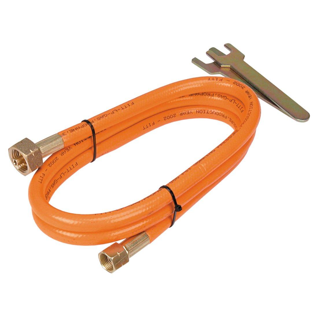 Propangasschlauch mit Verbinder 2-5m Gasschlauch Gasanschlussschlauch Propan Butan Verbindungsschlauch (2m) arbeitsbedarf24