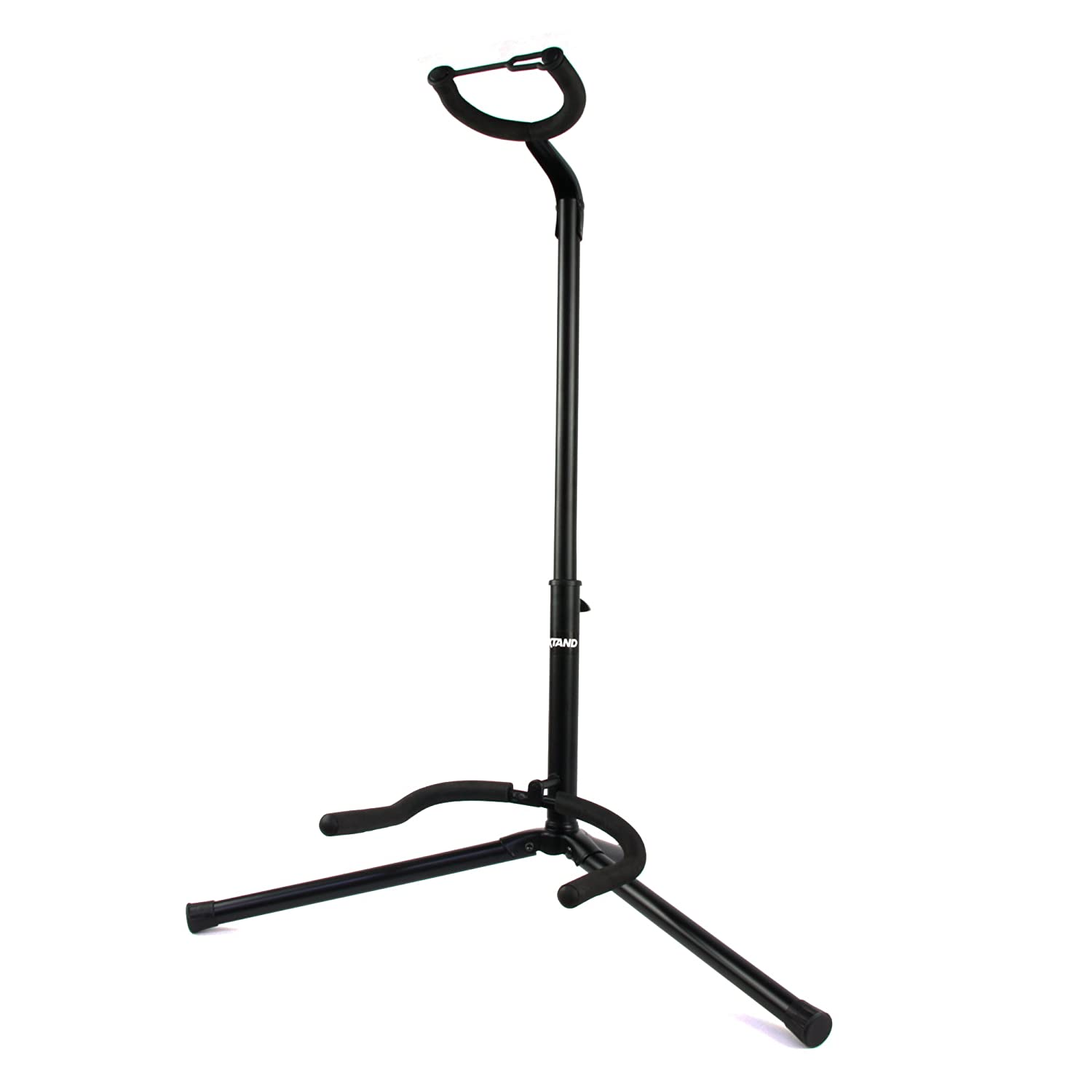 Guitar Stand for Acoustic, Electric, Bass Guitars – Black Single Tripod Stand by Axtand AX01