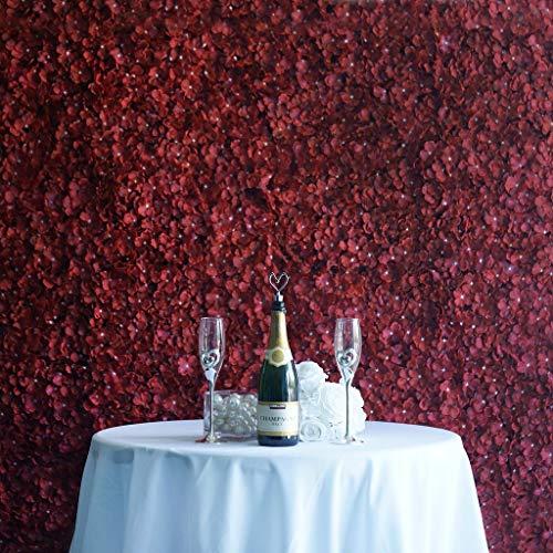 Efavormart 4 PCS Wine Silk Hydrangea Flower Mat Wall Wedding Event Decor for DIY Centerpieces Arrangements Party Home Decorations