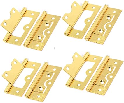 BUTT HINGE BRASS PLATED DOOR CUPBOARD VARIOUS SIZES 25 MM 1 INCH 100 MM 4 INCH