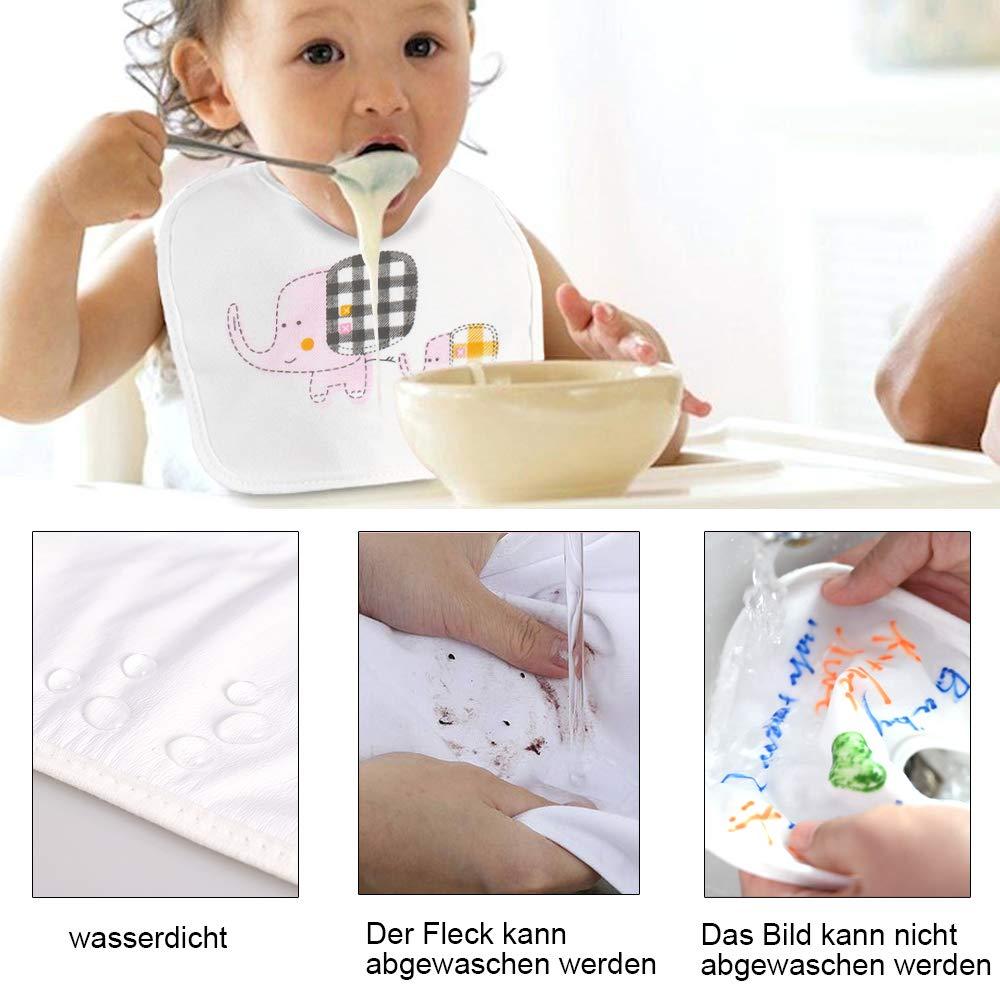 Faburo 6 St/ück Baby L/ätzchen zum Bemalen L/ätzchen aus Baumwolle Doppelseitig mit 8 bunten Textilstiften 1pcs Flaschen/öffner f/ür Babyshower Party