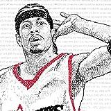 "Allen Iverson Wall Art Poster Print – Handwritten – Philadelphia 76ers Decor - Great Gift – 16""x20"" – Standard Size"