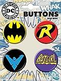 Ata-Boy DC Comics Originals Batman Logos 4 Button Set