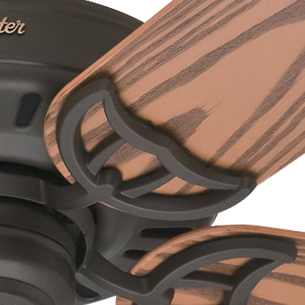 Hunter 53126 Traditional 52``Ceiling Fan from Bridgeport Collection in Bronze//Dark Finish,