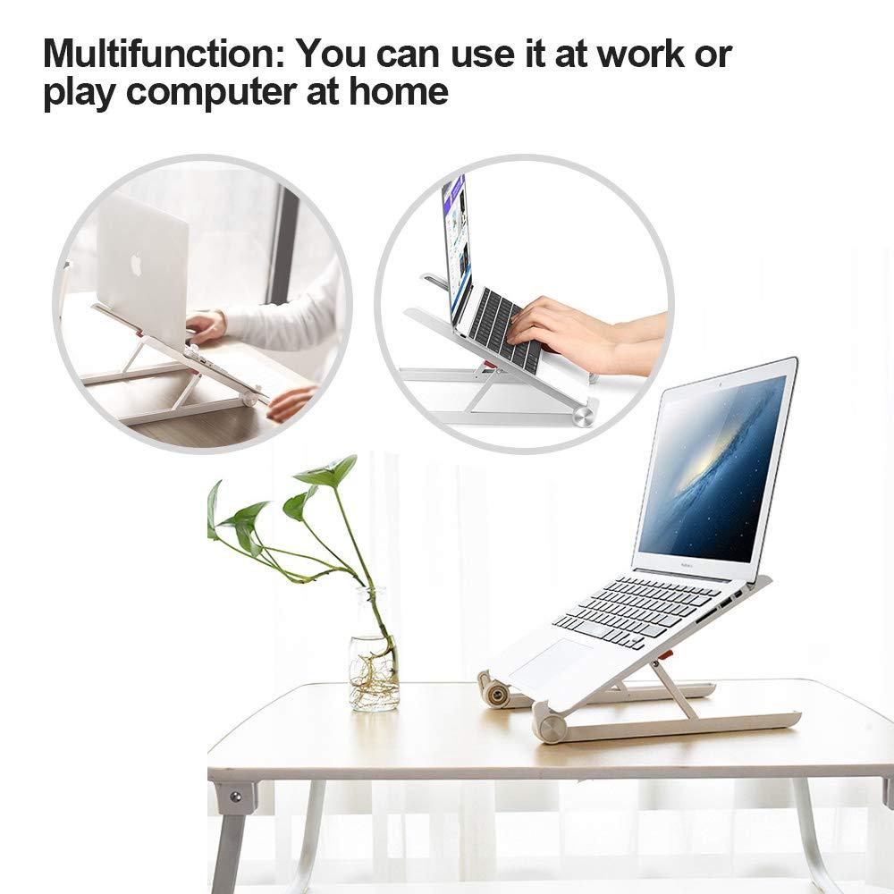 Black Lightweight,Portable Stand for Laptop Tablet G-Color Laptop Stand,Portable Laptop Stand,Foldable Desktop Notebook Holder Mount,Adjustable Eye-Level Ergonomic Design Ventilated Desktop Stand