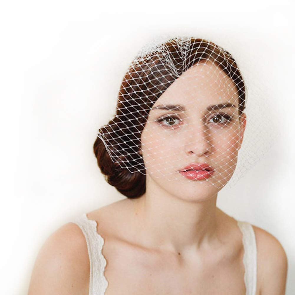 Bridal Birdcage veil Ivory Wedding Veil With Comb Party Headwear for Bride