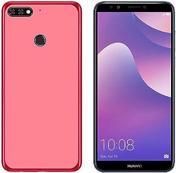 Todobarato24h Funda TPU Lisa Roja Compatible con Huawei Y7 2018 ...