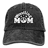Wrestling Mom Men's Women's Adjustable Jeans Baseball Hat | Yarn-Dyed Denim Sun Hat