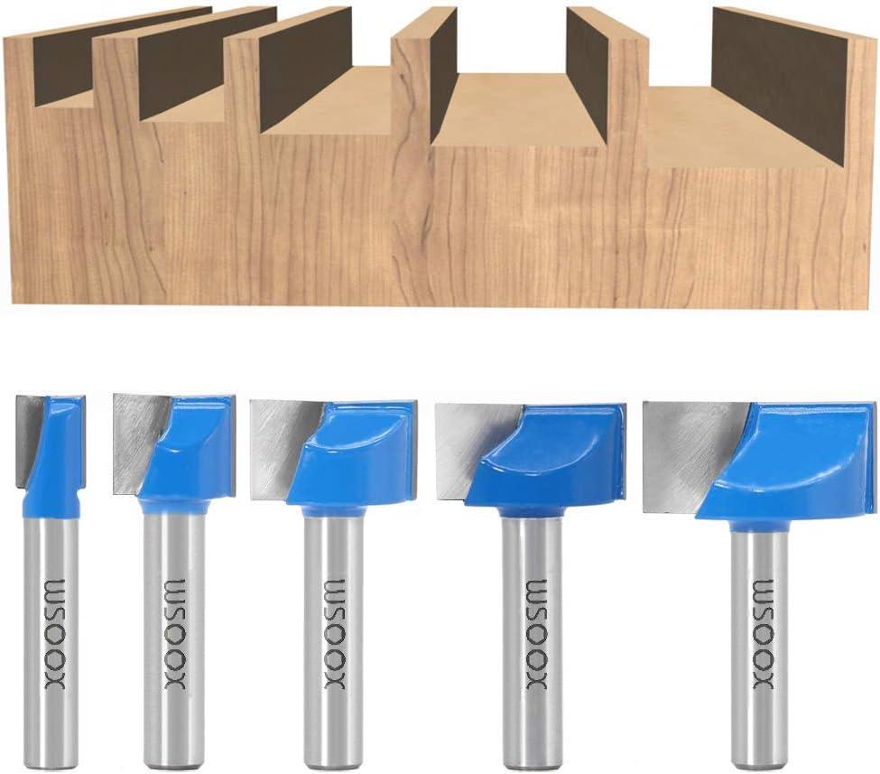 Set 2 St/ück Fr/äser Schaftfr/äser Holzbearbeitungswerkzeug Bit 20mm 8mm Schaft Bodenreinigung Fr/äser Doppelfl/öten-Hartmetall-Fr/äser f/ür das Holzschnitzen