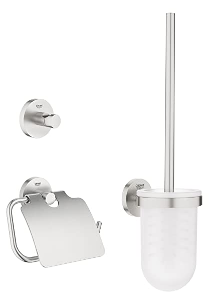 Grohe Toilet Accessoires Set.Grohe 40407dc1 Essentials Accessories Set 3 In 1
