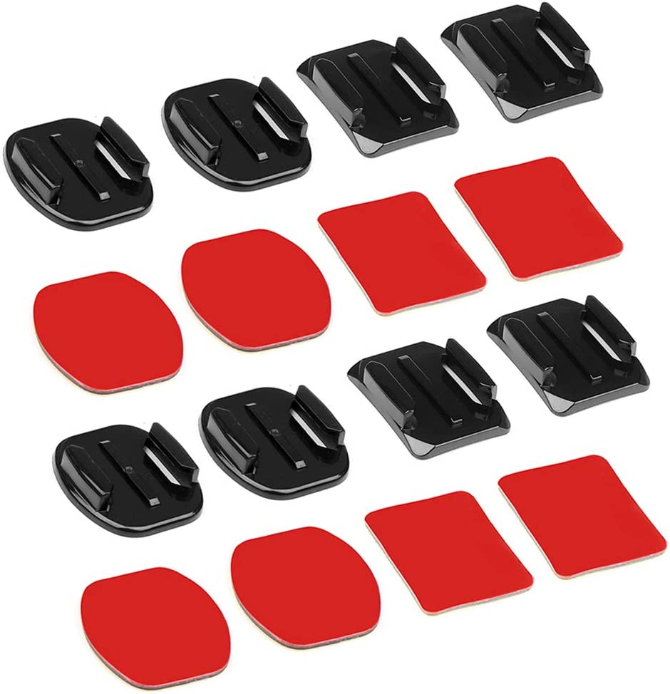 8pcs Flat Curved Base Mount and Adhesive Stickers for GoPro Hero7 6 5 4 Yi SJCAM J4000 Mount for Gopro Accessories Set