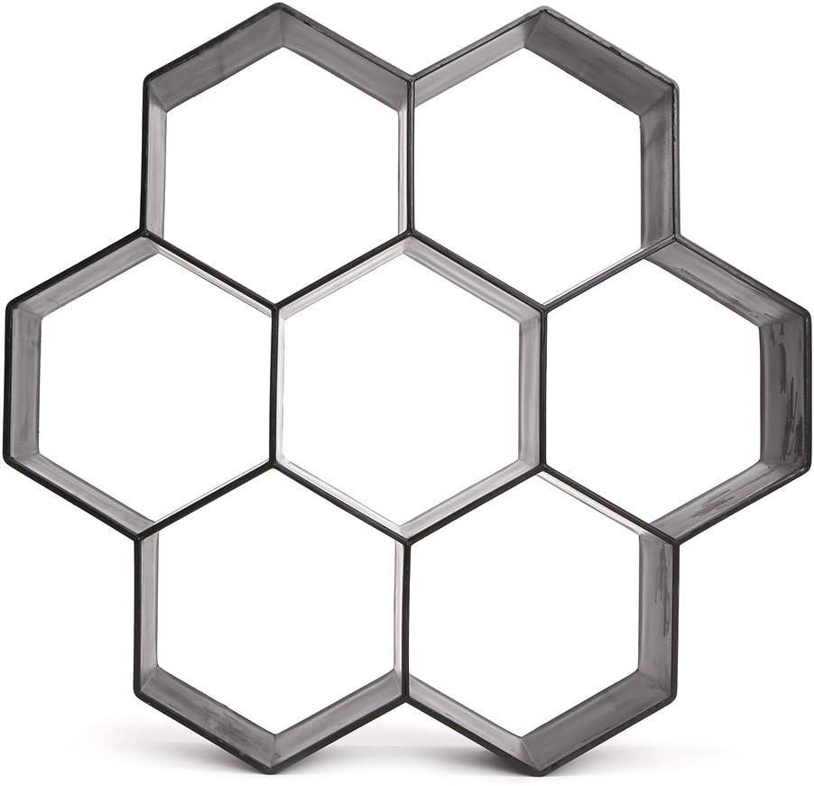 Abcidubxc Ultraleichte DIY Sechseckform f/ür Garten B/ürgersteig Trittstein Kunststoff Betonform Kunststoff Pflasterform